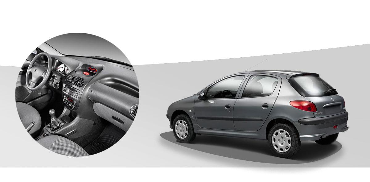 خرید اقساطی ایران خودرو 206 تیپ 5